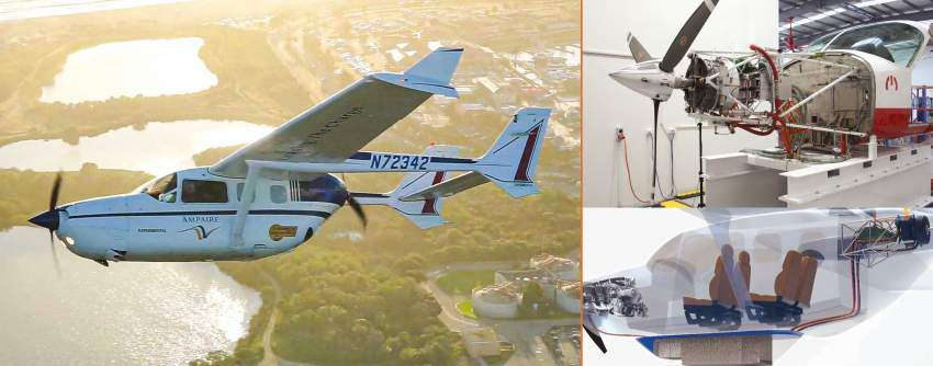 Ampaire electric airplane and engine
