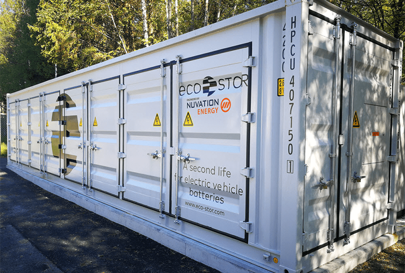 A Containerized Battery Energy Storage System with Second Life Batteries